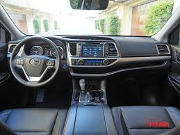 toyota highlander 2016 interior vehicles on vacation 2017 toyota highlander hybrid review the