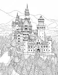 Castle Coloring Pages In The Forest For Adults Coloringstar Coloring Pages Castles