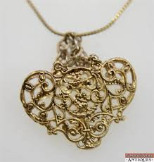 necklace clasps vintage images Vintage gold toned filigree basket necklace 30 quot long chain lobster jpg