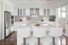 glossy white kitchen home design ideas