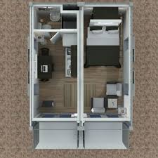 Storage Container Floor Plans - 2x20 foot container house v2 above tiny house design elements