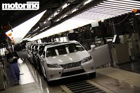 lexus canada factory lexus factory visit fukuoka japan motoring middle east car