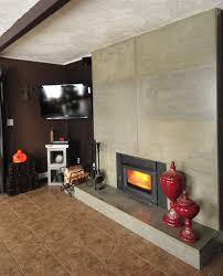 natural nice design of the modern fireplace with hearth design can