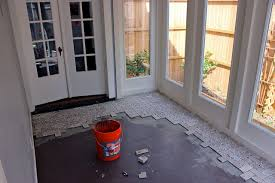 Big D Floor Covering Little House In The Big D Installing Travertine Tile In My Office