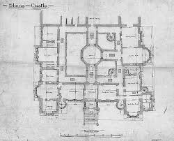 Small Castle House Plans Slains Castle 1st Floor Plan Castles Scotland And Architecture