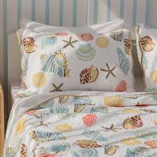 Coral Comforter Sets Mixinni Super Soft Coral Ocean Bedding Set Seashells Beach Theme