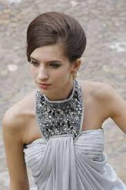 dress with necklace images Grey halterneck evening dress with jewelry necklace by elliot jpg