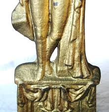 antique 1830 figural george washington cast iron large andirons