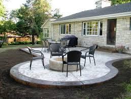 backyard concrete patio ideas home design ideas