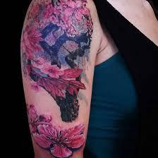 cherry blossom half sleeve designs