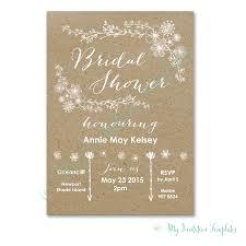 E Wedding Invitation Cards Free Diy Bridal Shower Invitation Whimsical Rustic Bridal Shower