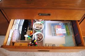 an organized mini office drawer