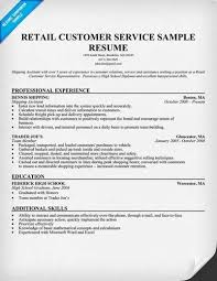 Retail Customer Service Resume Sample by Customer Service Resume Samples