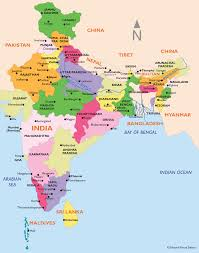India On World Map by India Tours Natural Focus Safaris