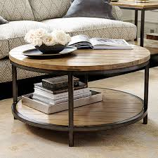 how to decorate a round coffee table durham round coffee table ballard designs