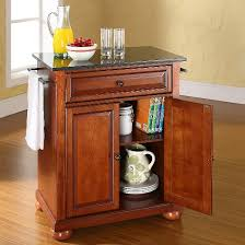 crosley kitchen island alexandria solid black granite top portable kitchen island wood