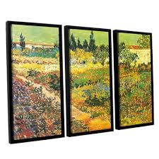 artwall wheatfield with cypresses by vincent van gogh 3 piece