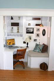 Closet Office Desk Office In A Closet Office With Reading Nook In A Closet R