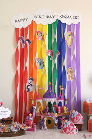 my little pony home decor dreamy birthday party backdrop décor ideas trends4us com