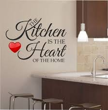 kitchen fresh wall art decal for kitchen ideas with black color