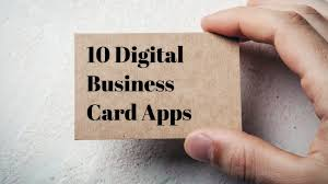 business card business apps for creating a digital business card