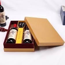 gift packaging for wine bottles cardboard covered paper wine gift box 2 bottle wine display set