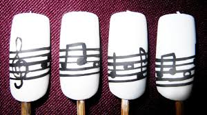 classic black and white musical notes nail art youtube