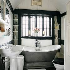 French Decor Bathroom Decorating With Black Four Walls And A Roof