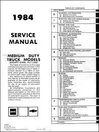 1984 chevrolet u0026 gmc medium truck repair shop manual original 40