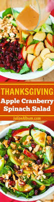 tasty thanksgiving salad recipes on spinach salad