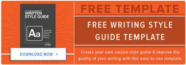 how to create a writing style guide built for the web free template
