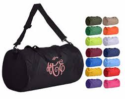 monogrammable items monogrammed duffle bags etsy