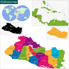 El Salvador On World Map by El Salvador Map U2014 Stock Vector Volina 37011837