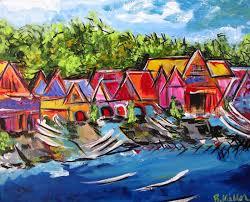 Boat House Row - philadelphia boathouse row britt miller art