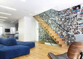 home interior stairs decorations photographic feature wall on stairs wall plus wooden