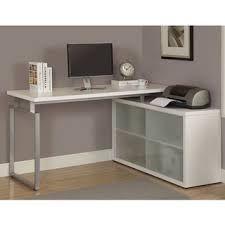 Desk L Shaped Reclaimed L Shaped Desk With Frosted Glass Free Shipping