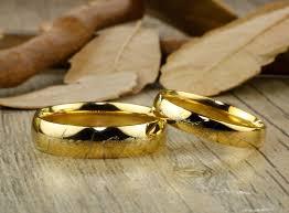 wedding rings couple images Handmade gold filled dome custom your words in elvish tengwar matchin JPG