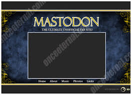 layout ultimate 2006 mastodon fan site layout by vestibule on deviantart