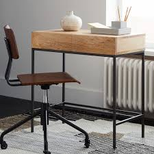 Small Desks Industrial Storage Mini Desk West Elm