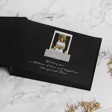 guest book with black pages guest book sign in book instant album black with white lettering