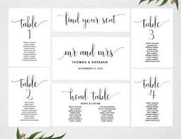 wedding seating chart template wedding seating chart template instant seating plan
