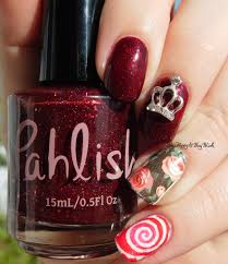 queen of the roses birthday nail art be happy and buy polish