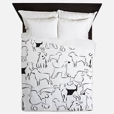 White Queen Duvet Dog Lover Bedding Dog Lover Duvet Covers Pillow Cases U0026 More