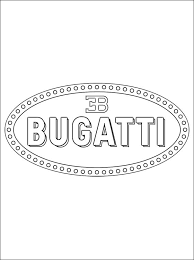 coloring bugatti logo coloring pages