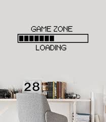 wall vinyl decal children u0027s room decor game zone loading