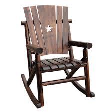 Western Rocking Chair Char Log Tx 93 Single Rocker The Mine