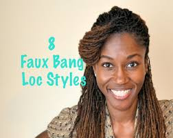 loc hairstyles with shunt loc style tutorial 8 faux bangs styles youtube