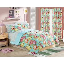your zone madelyn floral bed in a bag bedding set walmart com