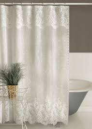 Silver And White Shower Curtain Floret Shower Curtain Heritage Lace