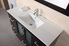 Sink Top Vanity 48 Inch Modern Bathroom Vanity White Porcelain Sink Countertop